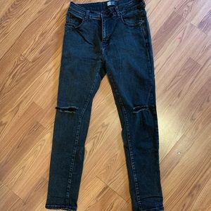 Lira Men's Faded Black Skinny-Fit Jeans